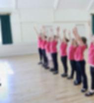 Toque da classe de dança