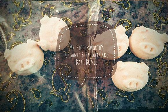 Mr. Pigglesworth's Birthday Cake Bath Bombs