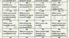 Recognizing the Importance of Being Thankful
