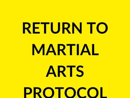 Covid 19 return to training protocols.