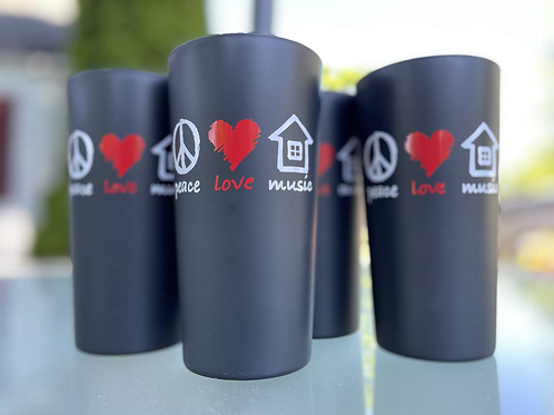 Peace love and house music set of 4 cups
