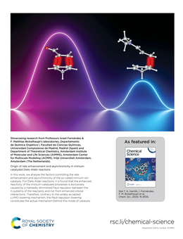 Origin of rate enhancement and asynchronicity in iminium catalyzed Diels–Alder reactions