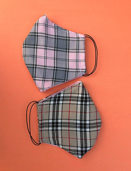 Tartan Face Cover Set
