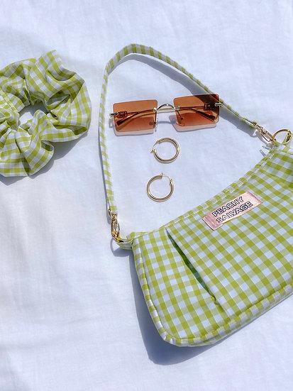 Sage Bag + Scrunchie set