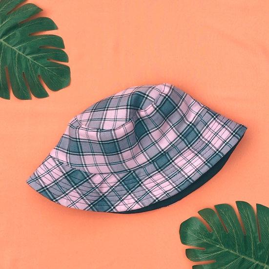 Reversible Pink Tartan Bucket Hat