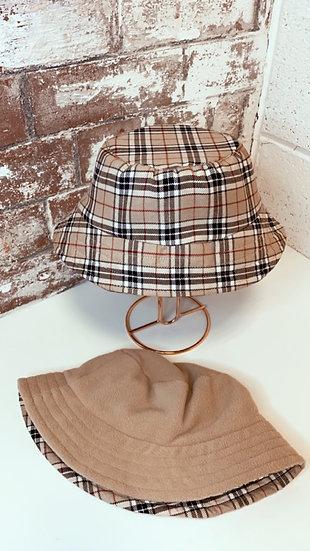 Reversible Fleece Nude Tartan Bucket Hat