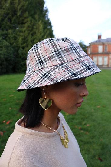 Reversible Beige Bucket Hat