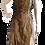 Thumbnail: Vestido longo tafeta ouro velho