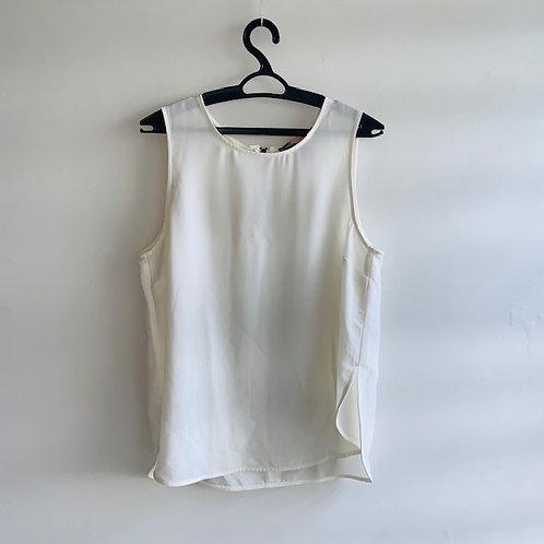 Camiseta regata chiffon offwhite