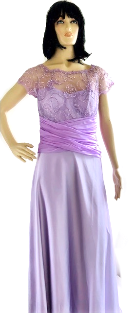 Vestido longo tomara que caia lilás