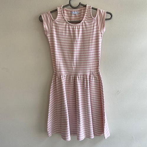 Vestido infantil listrado