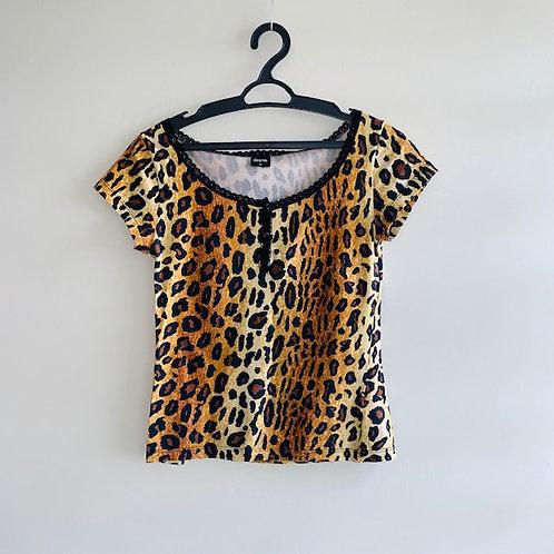 Camiseta algodão animal print