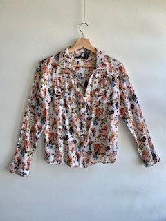 Camisa florida, manga longa