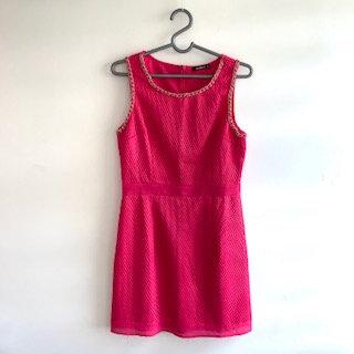 Vestido retrô tubinho pink