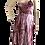 Thumbnail: Vestido longo de seda, mula manca
