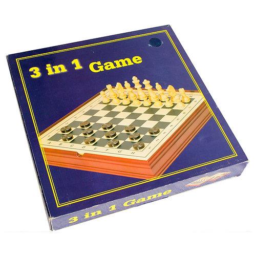 Jogo Xadrez, Dama e Gamão