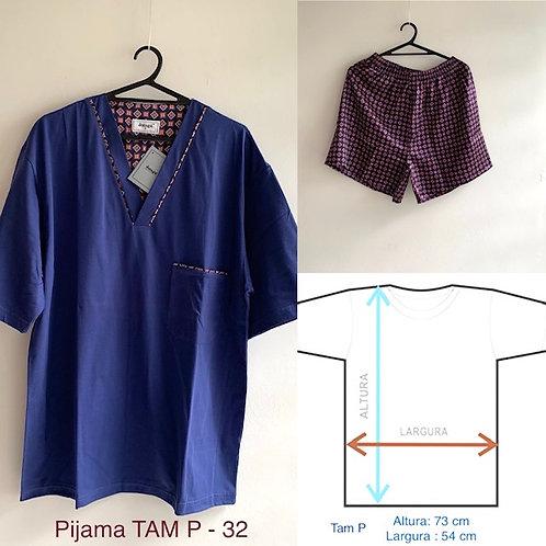 Pijama masculino shorts e camiseta manga curta