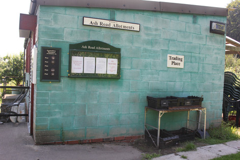 Ash Road Allotments 'The Hut' .JPG