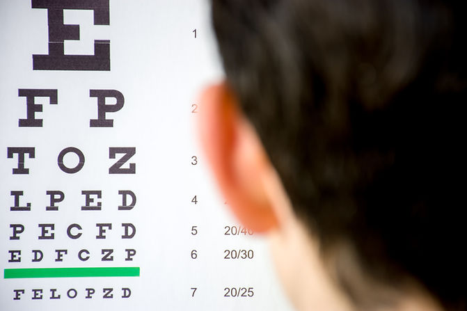 Check visual acuity or ophthalmologist o