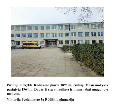 Viktorija Peciukonytė 5a Rūdiškių gimnaz