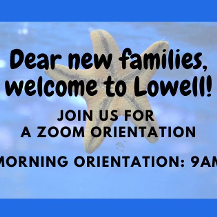 New Family Orientation (9am)