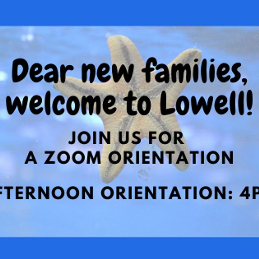 New Family Orientation (4pm)