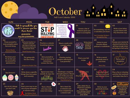 October Self Care Calendar