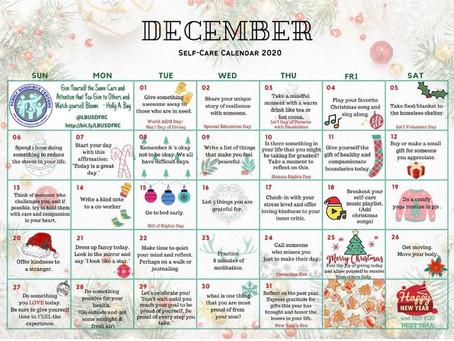 December Self-Care Calendar