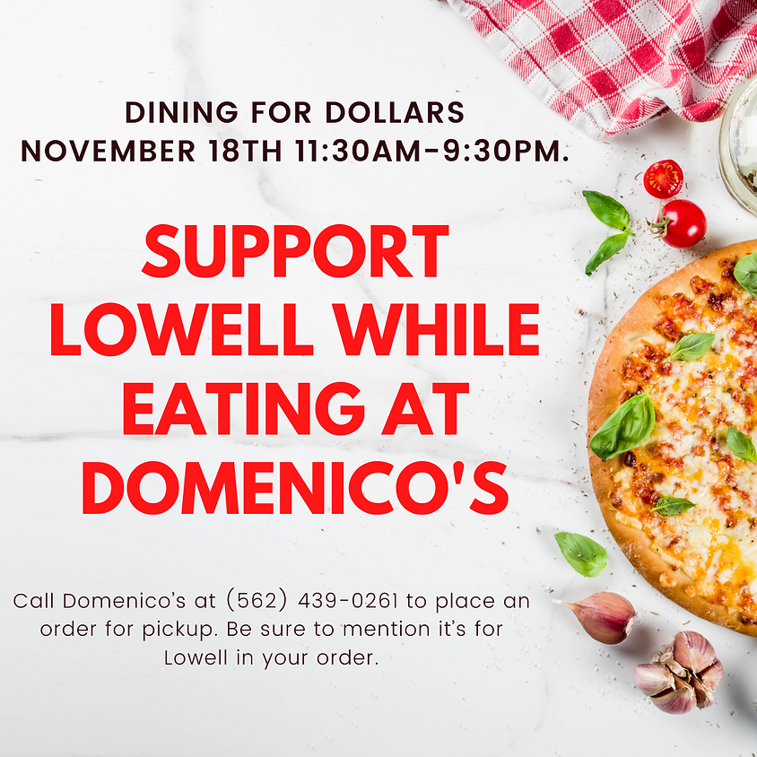 Dining for Dollars at Domenico's (all day event)