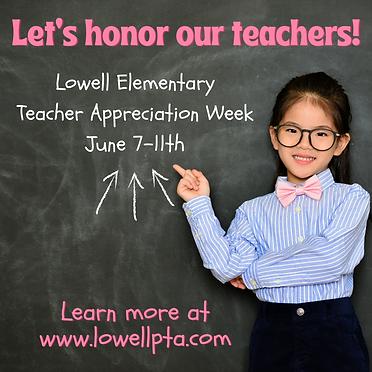 2021Teacher Appreciation Week is June 7-