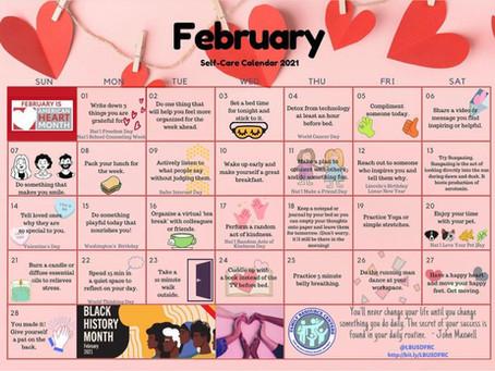 February Self-Care Calendar