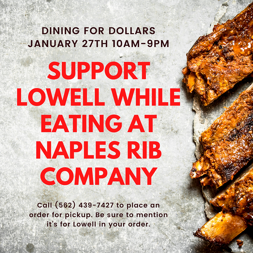 Dining for Dollars at Naples Rib Company (all day event)