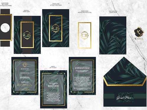 Elegant Black & gold Palm