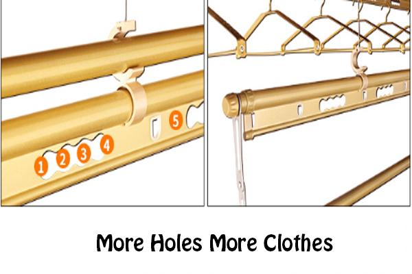3Pcs Double Tracks Lifting Drying Rack