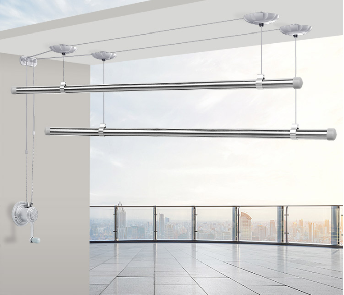 stainless steel lifting clothes hanger