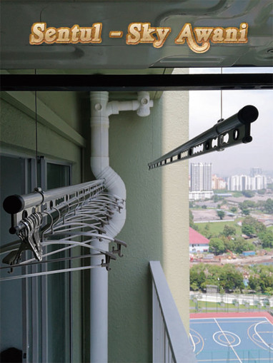 ceiling lifting clothes hanger