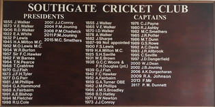 Southgate Cricket Club Honours