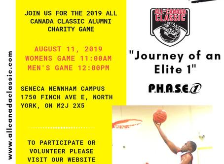 2019 P.H.A.S.E. 1 All Canada Classic Alumni Charity Game