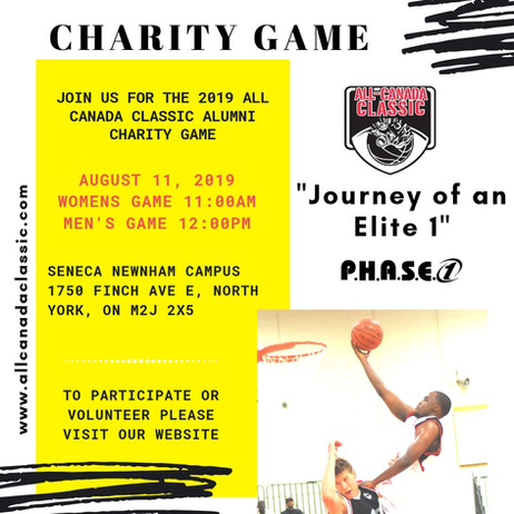 2019 P.H.A.S.E. 1 All Canada Classic Alumni Charity Game