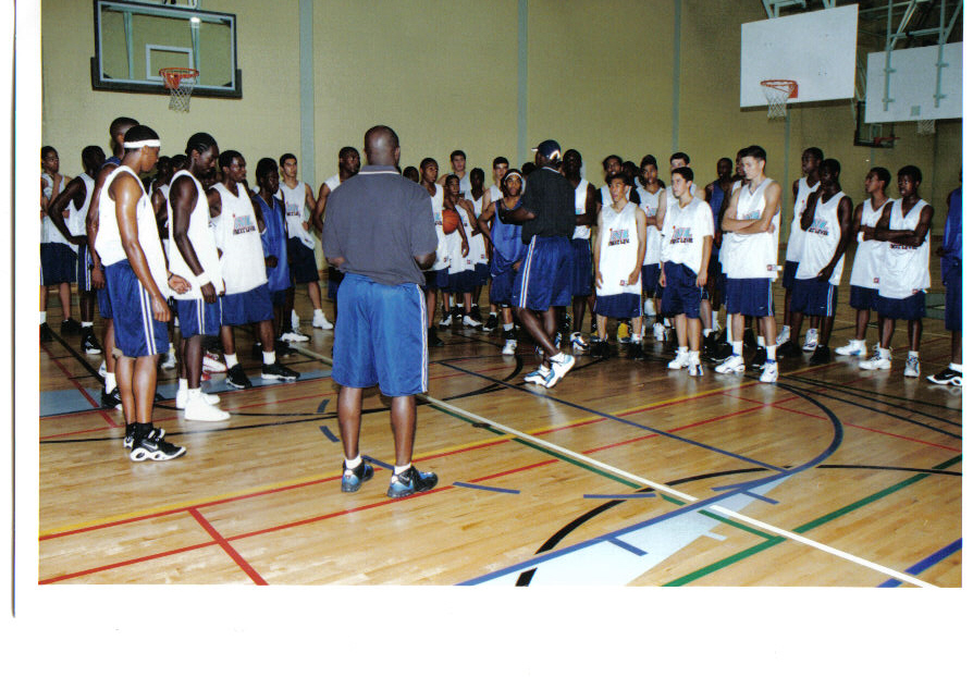 players at camp