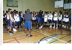 players at camp