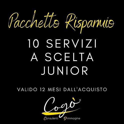 Pacchetto 10 servizi a scelta Junior