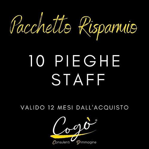 Pacchetto 10 pieghe Staff