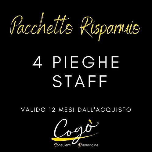 Pacchetto 4 pieghe Staff