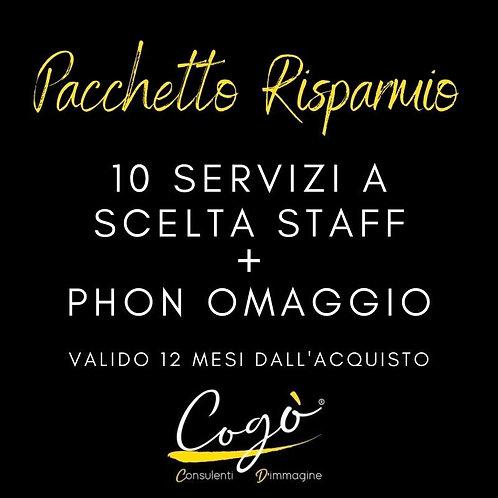 Pacchetto 10 servizi a scelta staff + phon omaggio