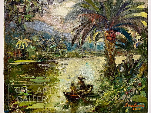 Композиция с пальмой