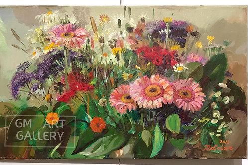 Полевые цветы и герберы