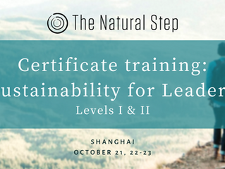 The Natural Step Sustainability for Leaders certification training landed in China