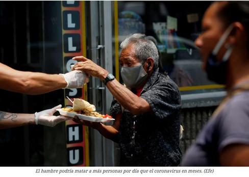 ONU advierte: pandemia de hambre podría matar más que coronavirus