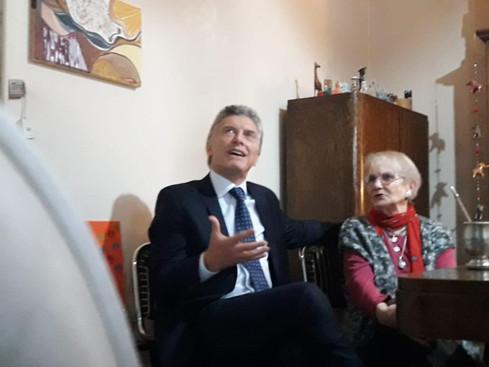 Macri, de timbreo en barrio Juniors